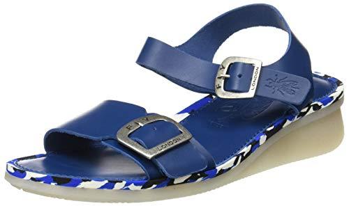 FLY London Comb230fly, Sandalias de Punta Descubierta Mujer, Azul Blue Blue Mid Sole 012, 40 EU