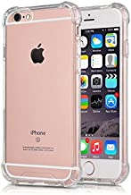 CaseHQ iPhone 6 Plus Case, iPhone 6S Plus Case Transparent Enhanced Grip Protective Defender Cover Soft TPU Shell Shock-Absorption Bumper Anti-Scratch Back Air Cushioned 4 Corners - Clear