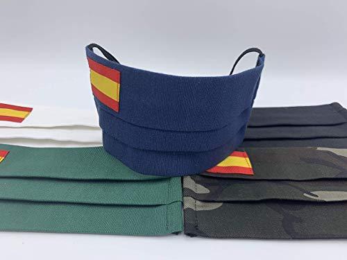 Pack de cuatro unidades dos azules y dos verdes con bandera de España tratados con ozono