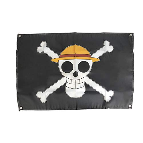 NANLAI Cosplay One Piece Going Merry Flag con Cappello di Paglia Skull Pirate Logo Ape · D · Luffy