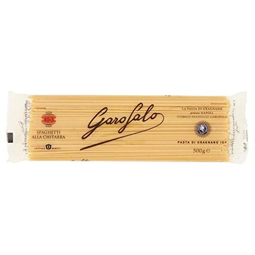16x Garofalo Pasta di Gragnano IGP Spaghetti alla Chitarra N° 40-3 Hartweizengrieß Pasta Neapolitanische Pasta Packung mit 500g