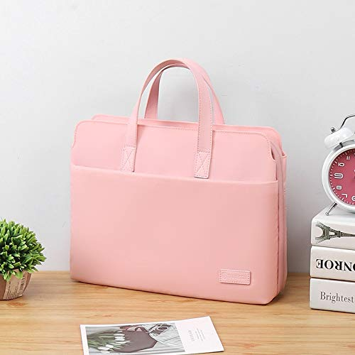 JUFENGYAO Laptop Bag For Lenovo Air 13.3 MacBook for Xiaomi for Huawei Matebook 14inch Computer Bag 15.6 Female Pro15 Dell 13 Sleeve Handbag (Color : Pink, Size : 12 13.3inch)