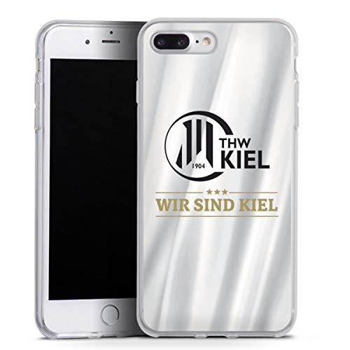 DeinDesign Silikon Hülle kompatibel mit Apple iPhone 7 Plus Case transparent Handyhülle THW Kiel Handball Offizielles Lizenzprodukt