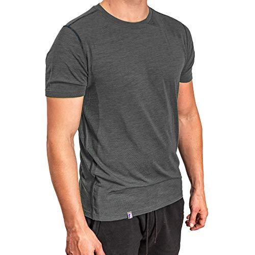 Alpin Loacker Merino T-Shirt Herren - Das Premium Merinowolle Kurzarm Wander Funktionsshirt für Outdoor und Freizeit (grau, S)