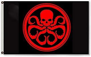 Astany Hail Hydra Marvel Shield Avengers Capt. America 3X5FT Black Flag Banner