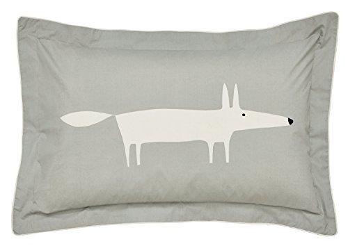 Scion MR Fox Oxford Pillow CASE, Percale, Silver, Single