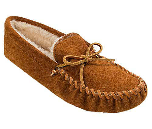 Minnetonka Men's Pile Lined Softsole, Brown, 12 M US