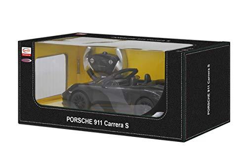 JAMARA 403085 - Porsche 911 Carrera S 1:12 2,4GHz - offiziell lizenziert, bis 1 Std Fahrzeit, ca. 11 Km/h, perfekt nachgebildete Details, detaillierter Innenraum