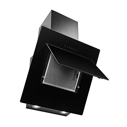 MEDION Dunstabzugshaube 60 cm (Kopffrei, 2 Aktivkohlefilter, Touch-Steuerung, LED Statusanzeige, 2 Lampen, 250W Motorleistung) MD 37411, schwarz