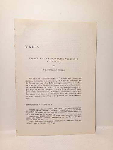 Avance bibliográfico sobre Vegadeo y su concejo