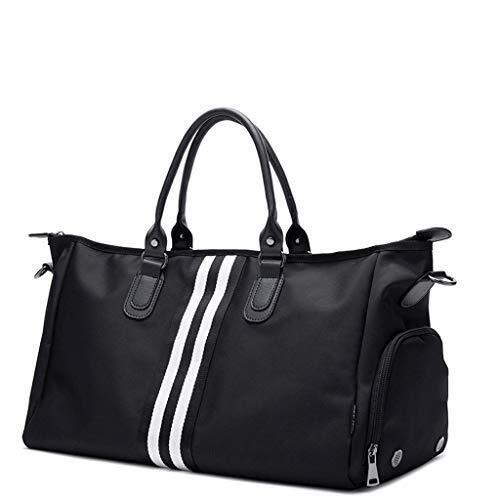 Bolsas de Gimnasio Ligera Ligera bolsa de viaje de gran capacidad del bolso del gimnasio bolsa Deportes del cortocircuito del recorrido del equipaje del bolso del bolso del gimnasio Blanca Bolsas Depo
