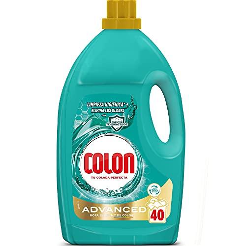 Colon Higiene - Detergente para Lavadora con Activos Higiénicos y Elimina Olores, Adecuado para Ropa Blanca y de Color, Formato Gel, 40 Dosis