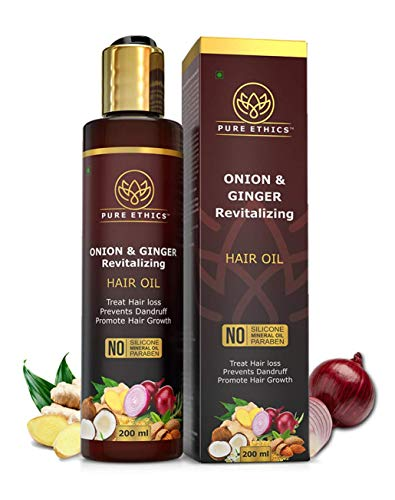 Pure Ethics Onion Oil with Ginger For Hair Growth & Hair Fall Control with 12 Essential Oils Men and Women Natural Herbal Hair Oil...