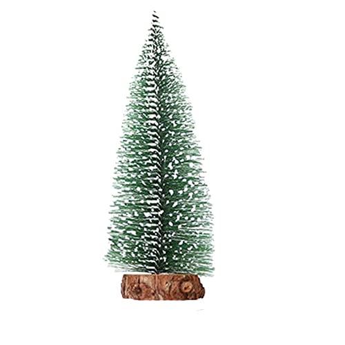 Mini arbre de Noël, décoration de table en cèdre, bar, centre commercial, vitrine Affichage de la fenêtre Décoration de cadeau de Noël, pour scènes miniatures, production de Noël et design, tailles mi