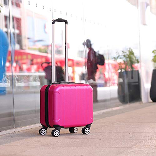 SFBBBO luggage suitcase small suitcase on wheels ladies small cabin suitcase chassis trolley case password luggage cosmetic box RoseRed