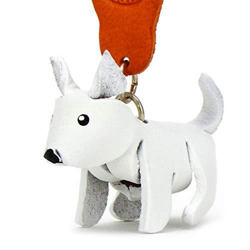 MONKIMAU Leather Keyring West Highland Terrier Dog