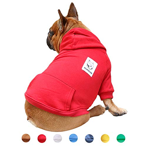 iChoue Pet Clothes Dog Hoodie Hooded Full-Zip...