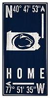 Fan Creations NCAA ペンシルベニア州立大学 ニタニー・ライオンズ ユニセックス ペンシルベニア州立大学 コーディネートサイン チームカラー 6 x 12インチ