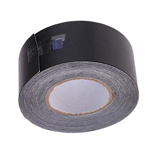 B Baosity 5m x 3,5 cm Schläger Sticker Kopfschutzband Aufkleber für Sport Tennis Badminton Squash - Schwarz