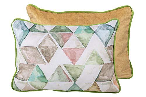 COJIN Mosaico Rombos-Liso Velvet 45X13X30 CM