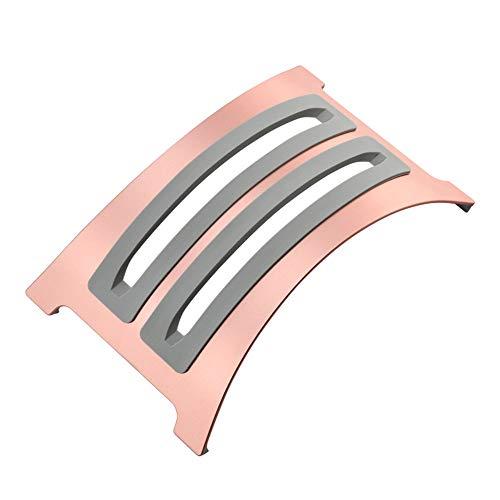 KKDWJ Ordenador portátil Soporte Vertical, de Aluminio Desmontable Titular portátil, con 2 Inserciones de Silicona Suave de reemplazo, diseño Antideslizante, Apto para Todos los portátiles,Rosado