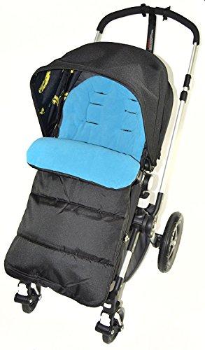 Fußsack/COSY TOES kompatibel mit Bebecar Kinderwagen Ocean Blau