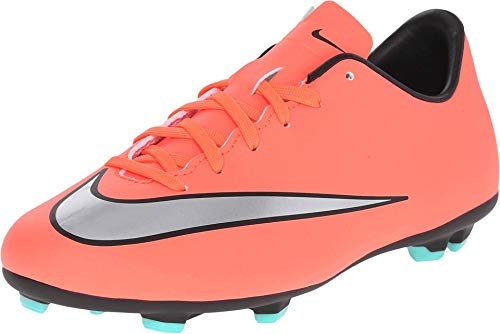 Nike Nike Jr Mercurial Victory V Fg, Mädchen Schuhe für Neugeborene, Mehrfarbig - Gelb/Silber/Violett (Brght MNG/Mtllc Slvr-Hypr TRQ) - Größe: 27 1/2