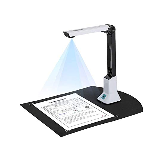 Document Cameras Scanner,8 MP High Definition Book & Document Camera with Real-time Projection Video Recording Versatility A4 Format OCR Multi-Language Recognition for Classroom Office Library Bank