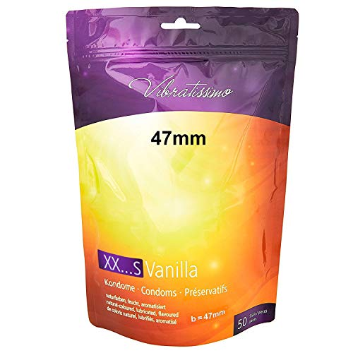 AMOR Vibratissimo 47mm Markenkondome Small-Kondome, 50 Stück, naturfarben