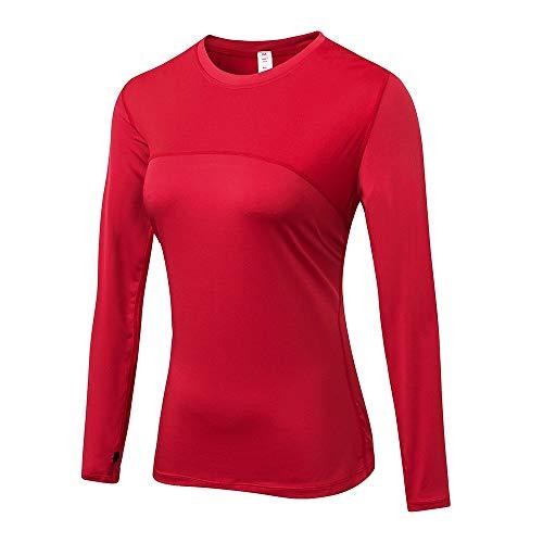 EVFIT Entrenamiento Running Top Y De Las Mujeres del Invierno del Otoño Se Divierte La Camiseta Que Absorbe El Sudor De Secado Rápido Acoplamiento De Costura Estiramiento De Manga Larga