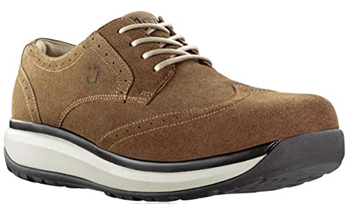 Joya - Zapatos de cordones de ante para hombre, color marrón, talla 41.5