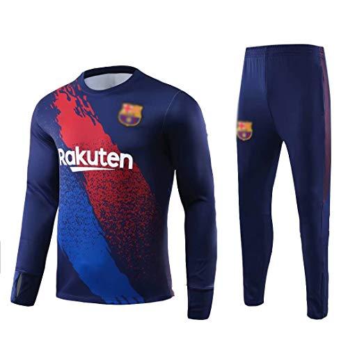 ANLEI Club de Fútbol Manga Larga entrenamiento de fútbol juego de los hombres Jersey Traje de deporte (Tops + Pants) - AS1047 Conjunto Traje Entrenamiento Fútbol (Color : Multi-colored, Size : S)