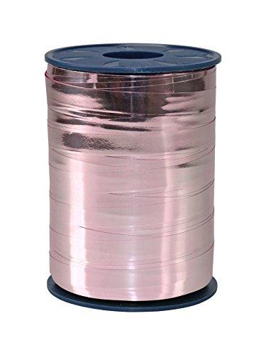 C.E. Pattberg MEXICO Geschenkband metallic altrosa (rosa), 250 m Ringelband zum Einpacken von Geschenken, 10 mm Breite, Zubehör zum Dekorieren & Basteln, Dekoband für Präsente, zu jedem Anlass