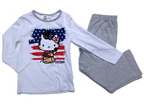 Hello Kitty Pijama Elvis blanco/gris 116 cm