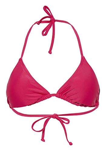 Chiemsee Bikinioberteil unifarben Parte Superiore del Bikini, Rosa Brillante, 46 Donna