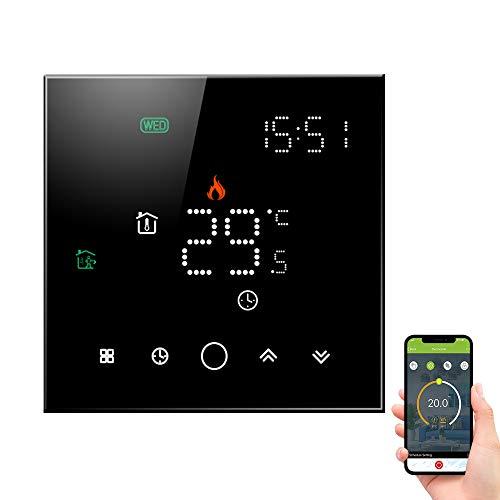 Decdeal Termostato WiFi per Caldaia Gas,Termostato Programmabile Controllo Vocale App,Compatibile con Amazon Echo Google Home Alexa,5A,95-240V