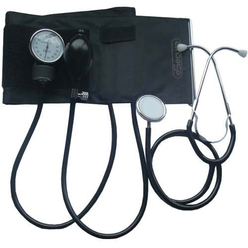 Aneroid Sphygmomanometer Blood Pressure Monitor Meter Kit and Stethoscop