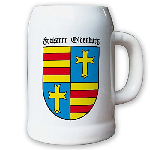 Krug/Bierkrug 0,5l - Freistaat Oldenburg Weimarer Republik Wappen #9458