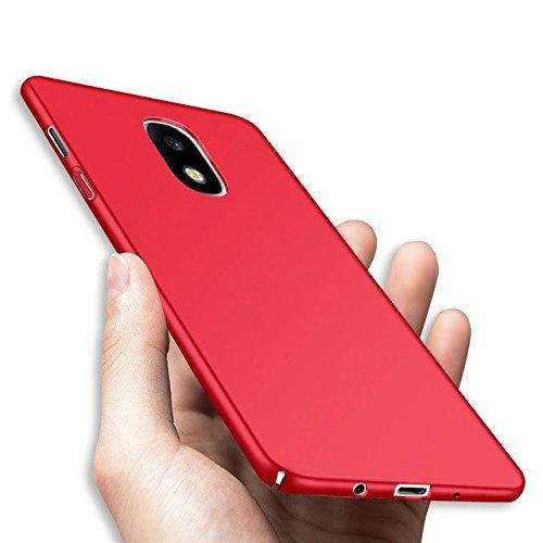 DyNamic Caso Duro Anti De La Pc De La Huella Digital para Samsung Galaxy J3/J5/J7 EU Versión 2017 - Rojo - J3 2017