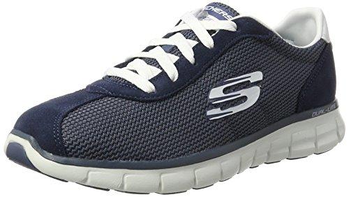 Skechers Synergy-Case Closed, Zapatillas de Entrenamiento, Gris (Slate), 36 EU