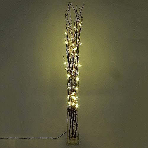 Dapo® Dekorations-Zweige-Leuchte Lichterzweige 50 LED 0,06W Weihnachts-Party-Stimmungs-Leuchte-Lampe 5 Ratanzweige Weidenzweige 100cm