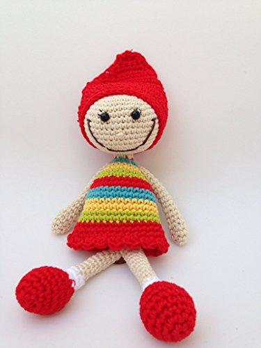 Muñeca pelona hecha a mano.