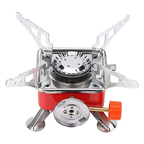 HUGEE Gaskocher Tragbarer - Mini Gas Campingkocher,Gaskocher Camping,Folding Metal Canister Stove Camping Gas Stove for Hiking,Picnic,Trekking and Outdoor Activities