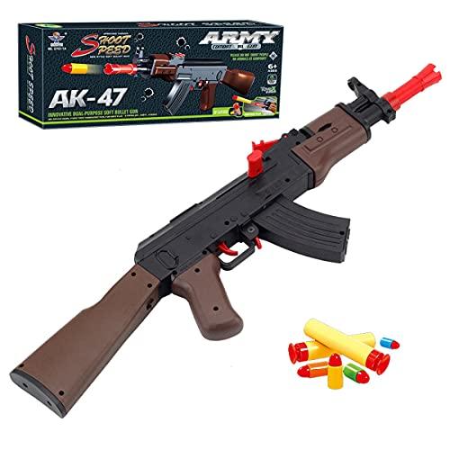 XIAOKEKE AK-47 Pistola De Bala Suave, Rifle De Francotirador De Juguete Automático, Regalo De Cumpleaños De Juguete para Niño Y Niña, Juego De CS para Niños Al Aire Libre