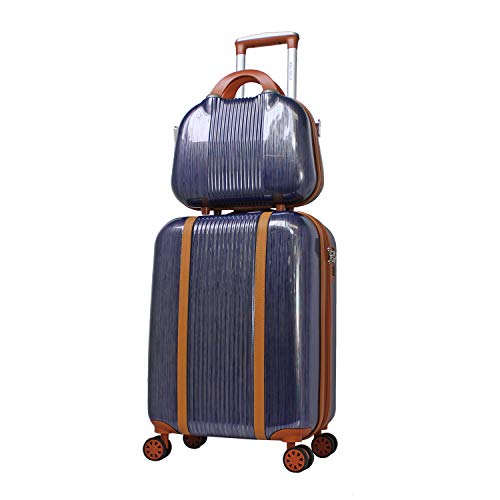 World Traveler Classique Hardside 2-PC Carry-On Spinner Luggage Set, Blue, One Size