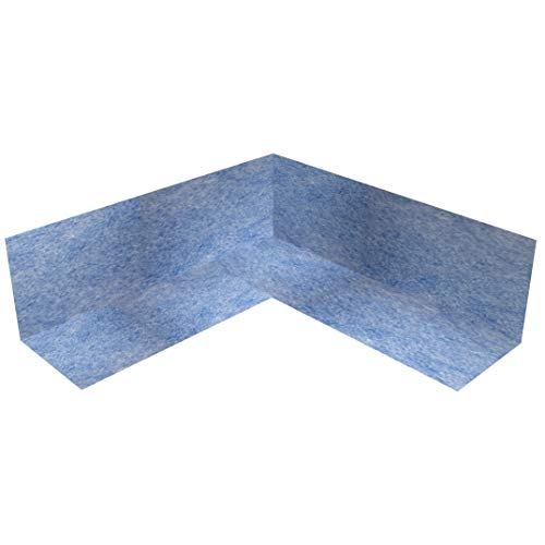 10x Sanitär Dichtecke Innen TPE blau 105x105mm Innenecke 90° Abdichtung für Fliesen für Bad Küche Dusche Badabdichtung Duschabdichtung