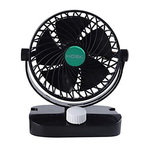 RETYLY Cabeza de Ventilador de Auto de 6 Pulgadas Que Sacude un Peque?o Ventilador Auto Eléctrico Ventilador de Enfriamiento de Verano Universal