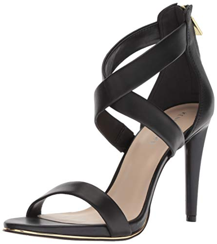 Kenneth Cole New York Women's Brooke Cross Strap Dress Sandal Heeled, Black, 6 M US