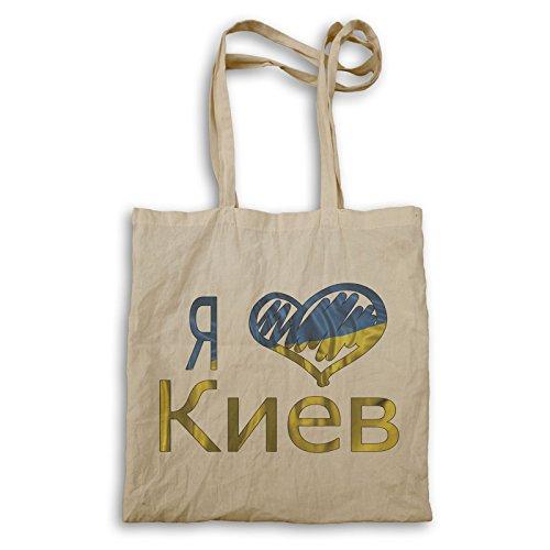 INNOGLEN Ich liebe Kiew Ukraine Flagge Tragetasche u301r