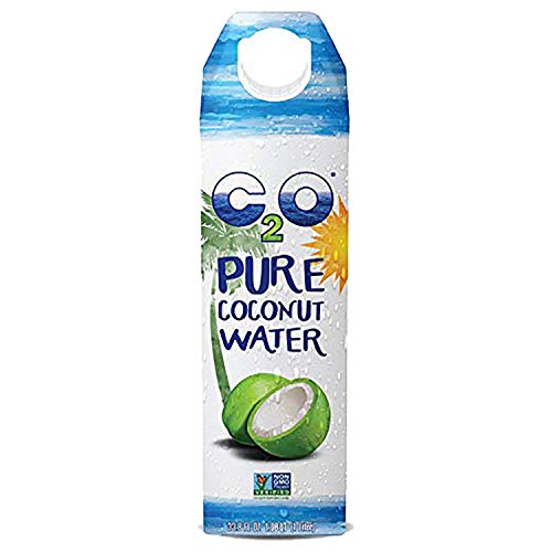 C2O Pure Coconut Water   Plant Based   Non-GMO   No Added Sugar   Essential Electrolytes   1 Liter (Pack - 6)